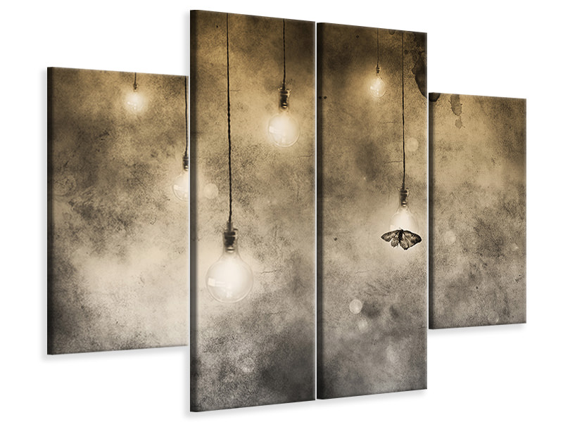 4 Piece Canvas Print Attraction