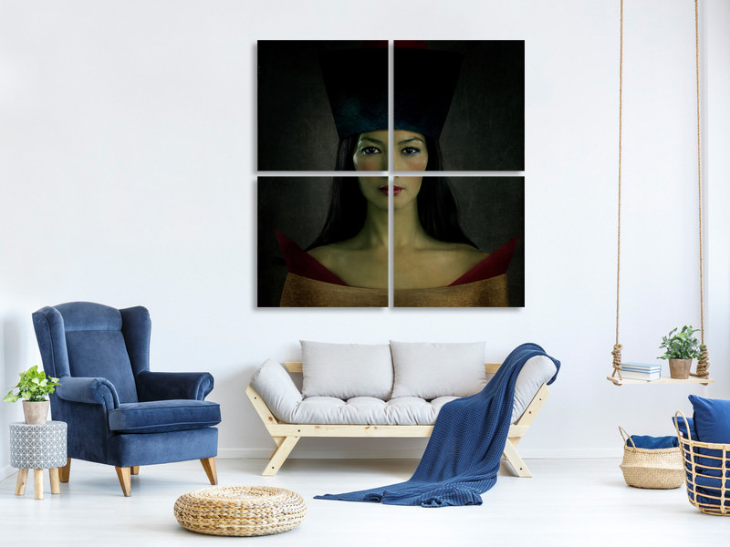 4 Piece Canvas Print Lips