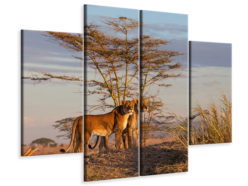 4 Piece Canvas Print Sisters