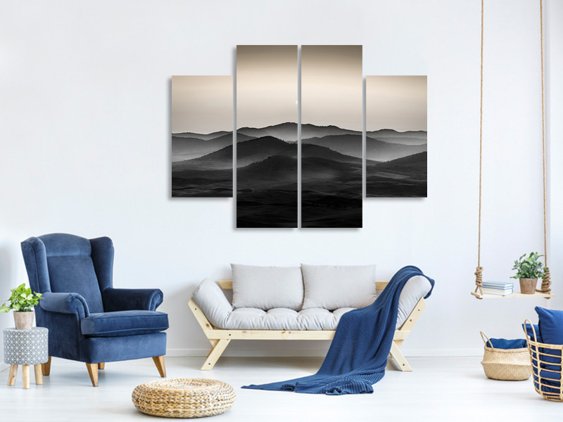 4 Piece Canvas Print Palouse Fields