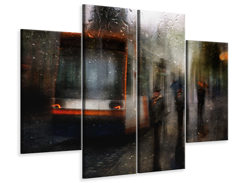 4 Piece Canvas Print And Nobody Seems To Know Where You Go
