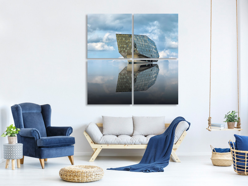 4 Piece Canvas Print Mirage
