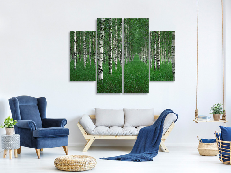 4 Piece Canvas Print The Tunnel