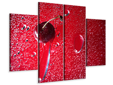 4 Piece Canvas Print Photo Waallpaper The Cherry