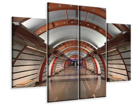4 Piece Canvas Print Metro Station