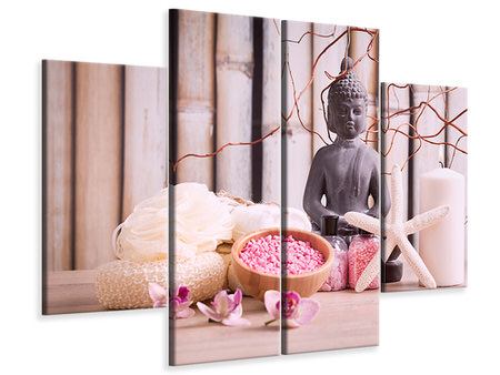 4 Piece Canvas Print Spa & Buddha