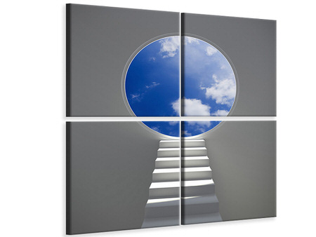 4 Piece Canvas Print Stairway To Heaven