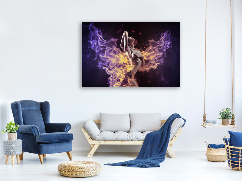 Canvas print play with the fire