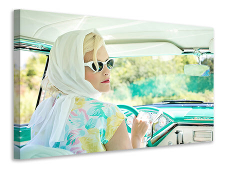 Canvas print Retro lady