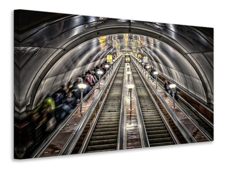 Canvas print in the metro