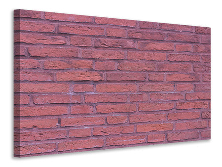 Canvas print Lacquered clinker bricks