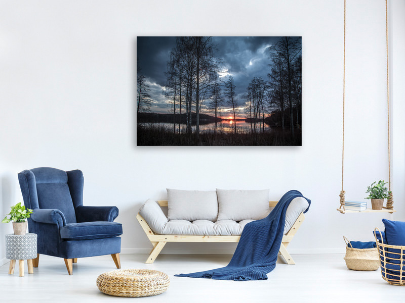 Canvas print Trees at the lake
