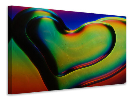 Canvas print Colored hearts