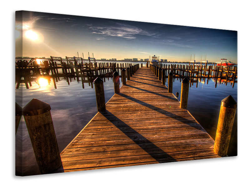 Canvas print Small harbor