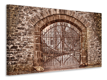 Canvas print The gate to the villa
