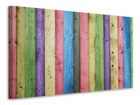 Canvas print Colorful wood