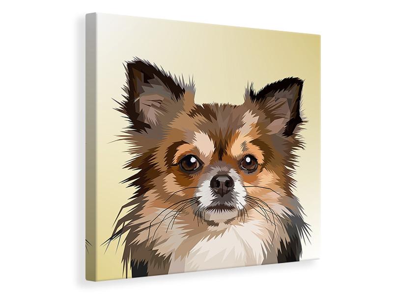 Billede på lærred Pop Art Dog Portrait