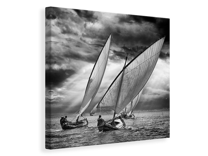 Canvas print Sailboats And Light