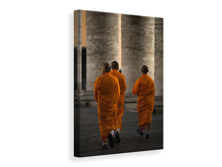 Canvas print Orange Guests