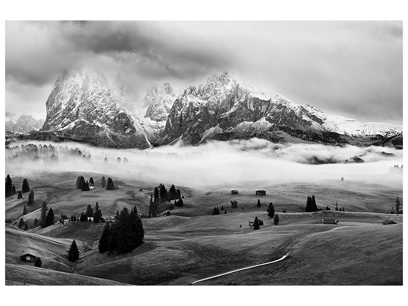 Canvas print Foggy Dolomites