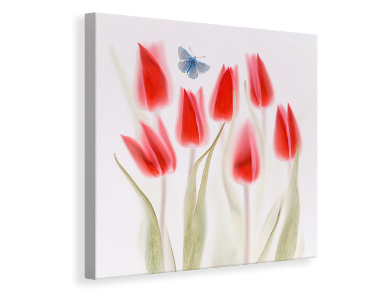 Canvas print Red Tulips