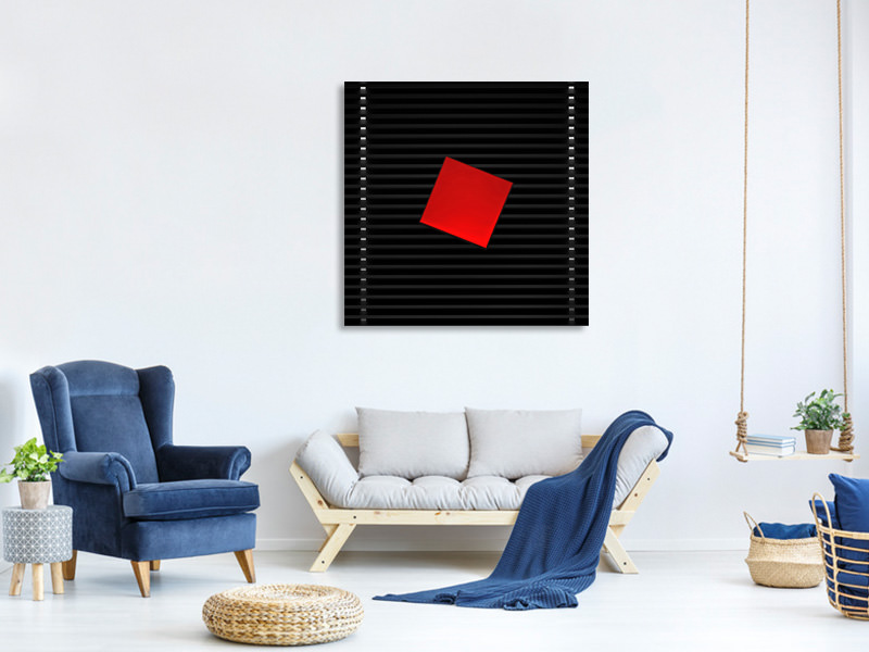 Canvas print Red On Black