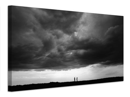 Canvas print Talk under the sky