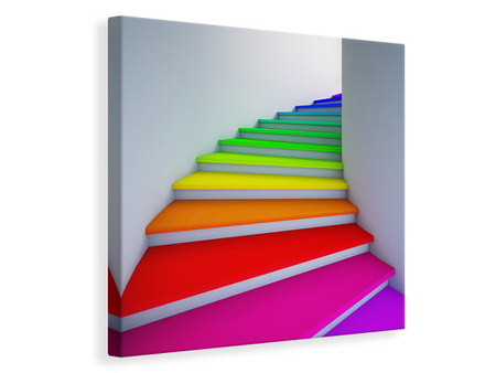 Canvas print Colorful Stairs