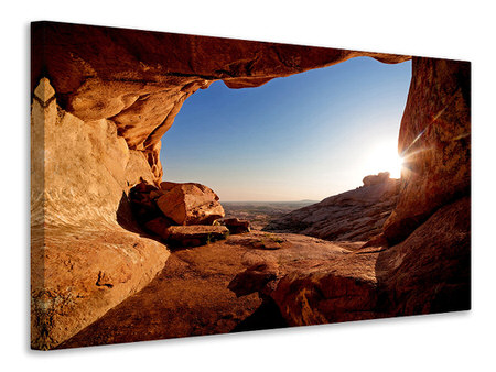 Canvas print Sunset In Front Of The cave