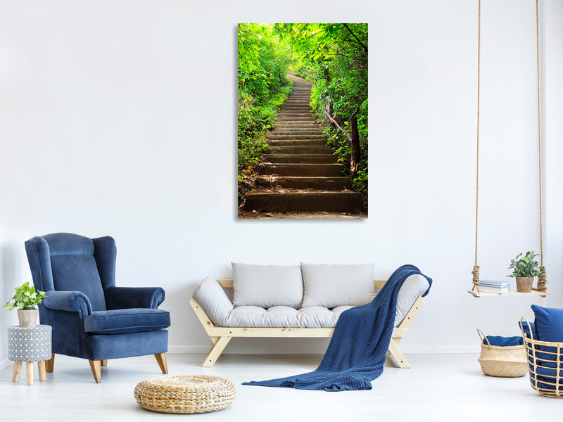 Canvas print Wood Stairs