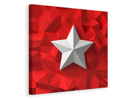 Canvas print 3D Star