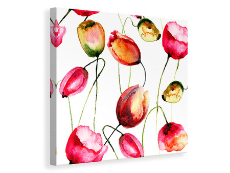 Canvas print Painting The Tulips
