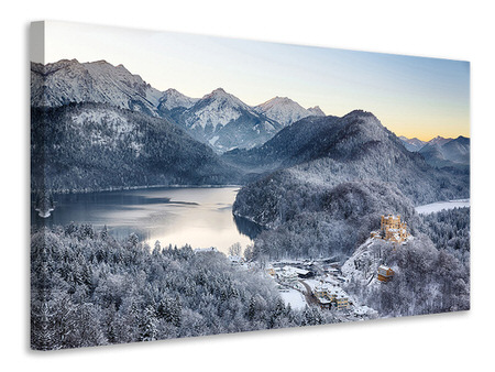 Canvas print Neuschwanstein Castle in Ammergebierge