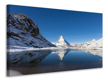 Canvas print The Riffelsee On Matterhorn