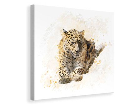 Canvas print Painting Lynx