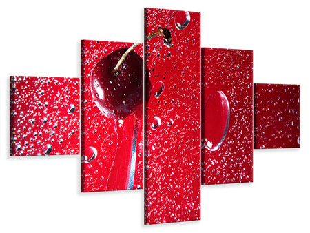 5 Piece Canvas Print Photo Waallpaper The Cherry